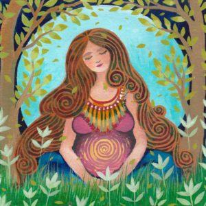 De moeder (to be) - illustratie door Marileen Arbouw