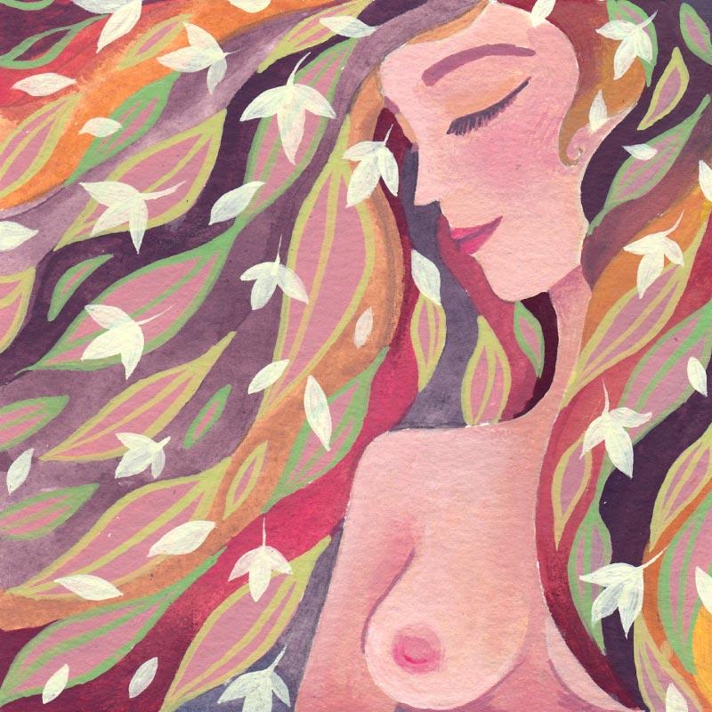 De Sensuele Vrouw - illustratie door Marileen Arbouw